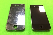 iPhone4液晶割れ