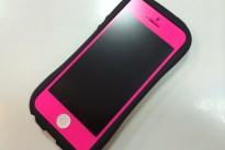 iPhone5フロントパネル ホットピンク
