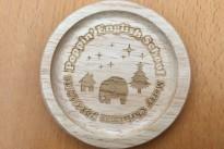 木製コースターオリジナル刻印
